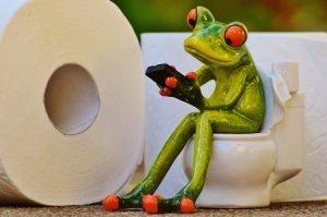 Leben auf dem WC