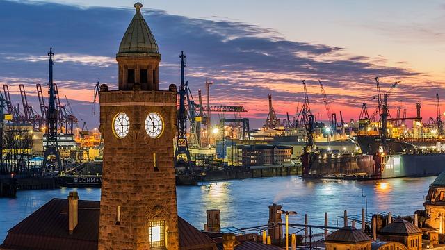 Hamburger Hafen in Hamburg